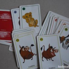 Barajas de cartas: JUEGO DE CARTAS EL REY LEON. Lote 199059112