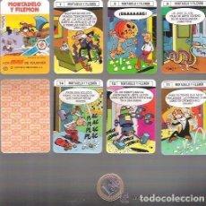 Barajas de cartas: BARAJA MINI DE FOURNIER Nº 17 MORTADELO Y FILEMON, 24 CARTAS + 1, SIN ESTRENAR EN SU ESTUCHE. Lote 232800520