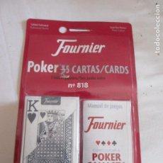 Barajas de cartas: FOURNIER Nº 818 - POKER 55 CARTAS/CARDS - CALIDAD PROFESIONAL - ENVASE ORIGINAL NUEVO. . Lote 199166198