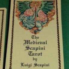 Barajas de cartas: THE MEDIEVAL SCAPINI TAROT (TAROT MEDIEVAL SCAPINI) (IMPECABLE) DE COLECCIONISTA. Lote 199265028