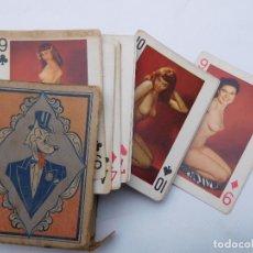 Barajas de cartas: ANTIGUA BARAJA DE POKER EROTICO ART STUDIES USA DESNUDOS COMPLETA. Lote 199493103