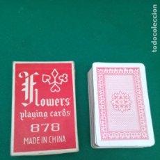 Barajas de cartas: BARAJA DE CARTAS - FLOWERS PLAYING CARDS - 878 - MADE IN CHINA. Lote 199788328