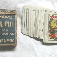 Barajas de cartas: LILIPUT BARAJA ESPAÑOLA DE CARTAS FOURNIER, NUEVA SIN USO. Lote 199788440