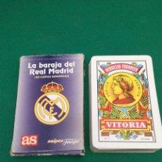 Jeux de cartes: BARAJA DE CARTAS ESPAÑOLA - REAL MADRID - AS - HERACLIO FOURNIER. Lote 199793823