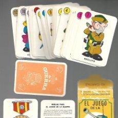 Jeux de cartes: BARAJA EL JUEGO DE LA GUERRA, 42 CARTAS, EDIC. RECREATIVAS. SIN ESTRENAR.. Lote 199813006