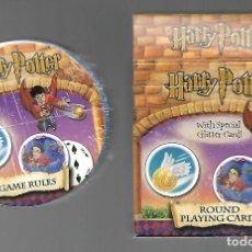 Jeux de cartes: BARAJA HARRY POTTER REDONDA. CARTA MUNDI. PRECINTADA Y CON LIBRITO EXPLICACIONES.. Lote 199872085