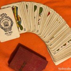 Barajas de cartas: CERVEZAS DAMM BARAJA ESPAÑOLA COMPLETA NAIPES JUAN ROURA LA HISPANOAMERICANA AÑOS 40. Lote 199890815