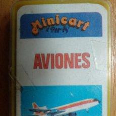 Jeux de cartes: BARAJA INFANTIL. MINICART. AVIONES. NAIPES COMAS. COMPLETA. 24+1 CARTAS.. Lote 199994623