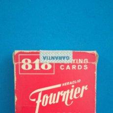 Mazzi di carte: BARAJA DE CARTAS COMPLETA 818 FOURNIER. Lote 200527368