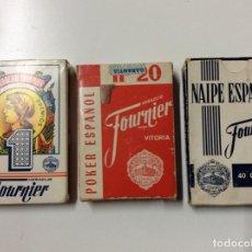 Baralhos de cartas: ENVÍO 6€. TRES BARAJAS COMPLETAS NAIPE Y PÓKER ESPAÑOL COMPLETAS. Lote 200612718