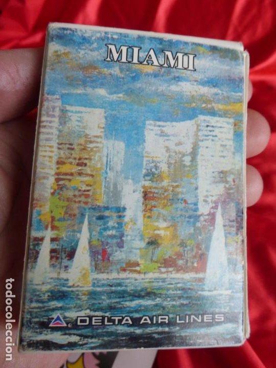 Barajas de cartas: BARAJA DE CARTAS DE POKER CON PUBLICIDAD DE miami delta air lines - COMPLETA Y EN BUEN ESTADO - Foto 3 - 200661645