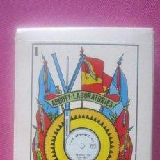 Barajas de cartas: BARAJA DIVISION PRODUCTOS HOSPITALARIOS ABBOTT LABORATORIOS CARTAS EN SU ESTUCHE. Lote 201211395
