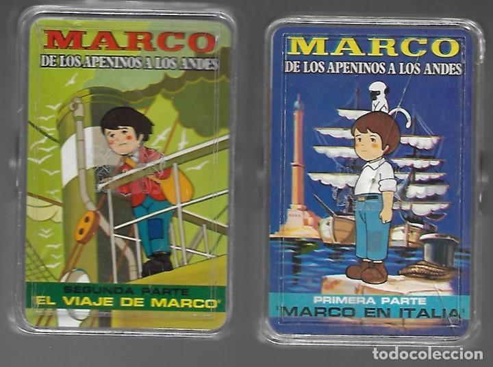 DOS BARAJAS MARCO DE LOS APENINOS A LOS ANDES, 1ª Y 2ª PARTE. NUEVAS. (Juguetes y Juegos - Cartas y Naipes - Barajas Infantiles)