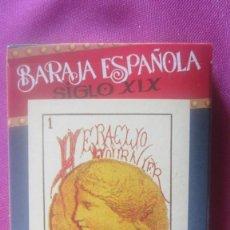Barajas de cartas: BARAJA ESPAÑOLA SIGLO XIX 40 CARTAS EN SU ESTUCHE. Lote 201246238