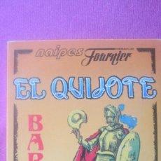 Barajas de cartas: BARAJA EL QUIJOTE CARTAS EN SU ESTUCHE FOURNIER EXCELENTE ESTADO. Lote 201247175