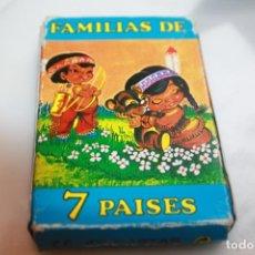 Barajas de cartas: BARAJA FAMILIAS DE 7 PAISES. Lote 201275036