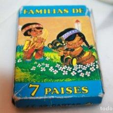 Barajas de cartas: BARAJA FAMILIAS DE 7 PAISES. Lote 201275037