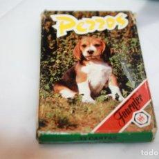 Barajas de cartas: BARAJA PERROS FALTA CARTA 2B. Lote 201275120
