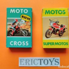 Barajas de cartas: LOTE BARAJAS - MOTO CROSS AÑOS 1987 Y SUPERMOTOS AÑOS 1984 - A ESTRENAR!!! - ERICTOYS. Lote 201621363