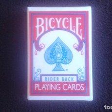 Barajas de cartas: MINI BARAJA DE POKER. BICYCLE MINIATURE 404. RIDER BACK PLAYING CARDS.. Lote 201764392