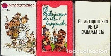 EL ANTIQUIJUEGO DE LA BARAJAMILIA. MUSEO ARQUEOLOGICO Y DIPUTACION FORAL DE ALAVA. (Juguetes y Juegos - Cartas y Naipes - Barajas Infantiles)