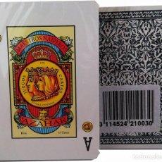 Barajas de cartas: BARAJA ESPAÑOLA DE MAESTROS NAIPEROS ESPAÑOLES- MODELO AZAHAR-PRECINTADA. Lote 193840625