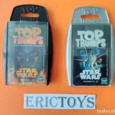 Barajas de cartas: LOTE 2 BARAJAS STAR WARS - TOP TRUMPS AÑO 2005 A ESTRENAR!!! - ERICTOYS. Lote 202351651