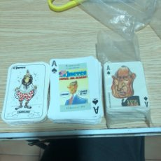 Barajas de cartas: LOTE DE 3 BARAJAS ANTIGUAS DE LA REVISTA EL JUEVES. Lote 202717523