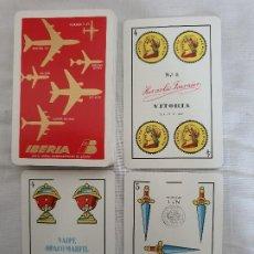 Barajas de cartas: BARAJA ESPAÑOLA DE CARTAS PUBLICIDAD IBERIA 1962. Lote 202739010