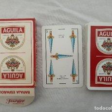 Barajas de cartas: BARAJA ESPAÑOLA DE CARTAS PUBLICIDAD CERVEZAS EL AGUILA. Lote 202739525