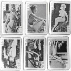 Barajas de cartas: CR-301. BARAJA CARTAS EROTICAS, 54 MODEL PLAYING CARDS . AÑOS 50. INCOMPLETA FALTAN 5 CARTAS.. Lote 202766166
