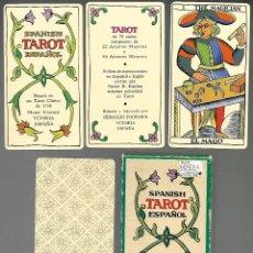 Barajas de cartas: BARAJA SPANISH TAROT ESPAÑOL, COMPLETA SIN ESTRENAR EN ESTUCHE CARTON RIGIDO 78 + EXPLICACIONES.. Lote 202843251