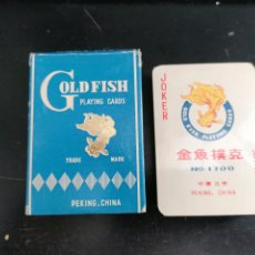 Barajas de cartas: NAIPES CARTAS BARAJA COMPLETA GOLD FISH PEKING, CHINA, PRECINTOS ORIGINALES SIN ABRIR. Lote 202844415