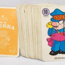 Jeux de cartes: BARAJA EL JUEGO DE LA GUERRA, (INCOMPLETA - 40 CARTAS) , EDICIONES RECREATIVAS AÑOS 70. Lote 202864100