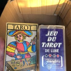 Barajas de cartas: LOTE DE 2 BARAJAS DE TAROT. Lote 202906105