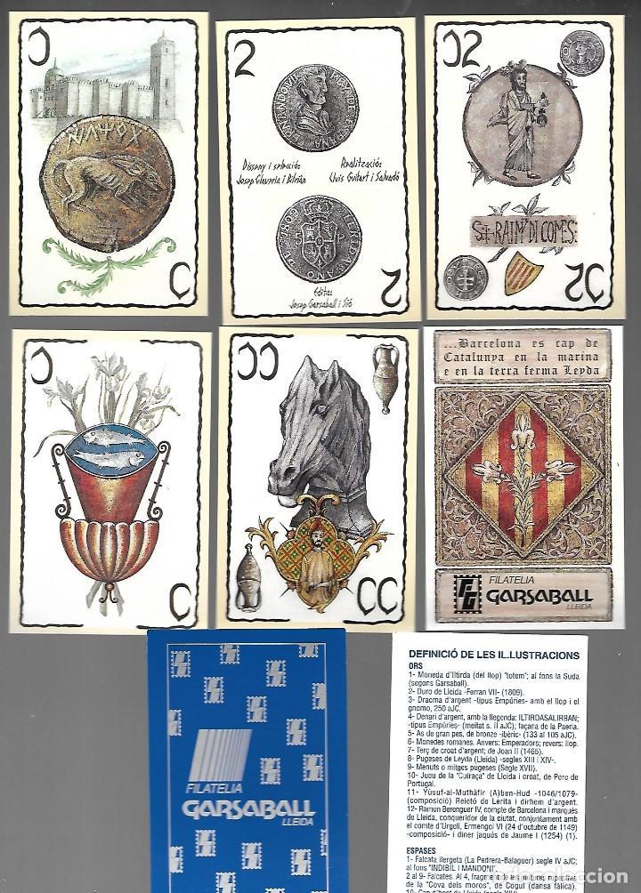 BARAJA HISTORIA Y MONEDAS D. J. CLAVERIA 1996, REVERSO FILATELIA CARSABALL. IMPECABLE. (Juguetes y Juegos - Cartas y Naipes - Baraja Española)