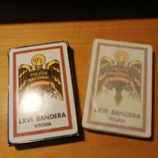 Barajas de cartas: BARAJA FOURNIER VITORIA 40 CARTAS POLICIA NACIONAL LXVI BANDERA. Lote 202995208