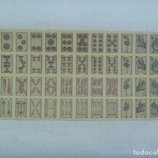 Barajas de cartas: ANTIGUO PLIEGO DE UNA MINI BARAJA DE CARTAS ESPAÑOLA, PARECE DE UNA RIFA. Lote 203003633