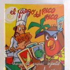 Barajas de cartas: BARAJA INFANTIL - FOURNIER - EL JUEGO DEL RICO RICO - KARLOS ARGUIÑANO. Lote 203281790