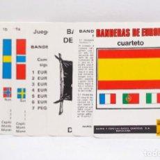 Barajas de cartas: BARAJA INFANTIL, BANDERAS DEL MUNDO - COMAS. Lote 203287763