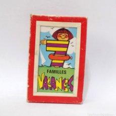 Barajas de cartas: BARAJA DE CARTAS - FRANCESA - 7 FAMILIAS - VACACIONES. Lote 203289265