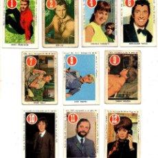 Barajas de cartas: ASES Y ESTRELLAS ROJO (FHER 1969) 10 CROMOS, SE VENDEN SUELTOS, CONSULTAR PRECIOS.. Lote 167232188