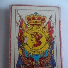 Barajas de cartas: ANTIGUA BARAJA DE CARTAS ESPAÑOLA UNIVERSAL, 50 CARTAS, BANDERA REPUBLICANA , VER FOTOS. Lote 203792683