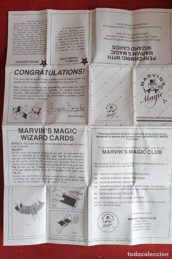 Barajas de cartas: BARAJA PARA MAGOS MARVINS MAGIC - Foto 4 - 203895861