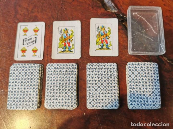 Barajas de cartas: NAIPES COMAS : ANTIGUA BARAJA DE NAIPES CARTAS EN MINIATURA COMPLETA N.E.G.S.A BARCELONA 50 CARTAS - Foto 5 - 203916258