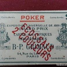 Baralhos de cartas: CARTAS DE POKER GRAND PRIX. EXPOSICION UNIVERSAL 1900. Lote 203960460