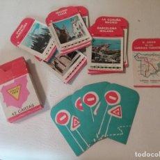 Barajas de cartas: ANTIGUA BARAJA INFANTIL EL JUEGO DE LOS CAMINOS TURÍSTICOS AÑO 1964. Lote 204125166
