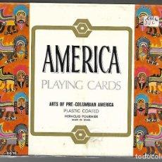 Barajas de cartas: ESTUCHE PRECINTADO CON DOS BARAJAS, ARTE PRECOLOMBIANO AMERICA. FOURNIER.. Lote 204437928