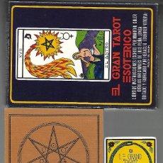 Barajas de cartas: EL GRAN TAROT ESOTERICO, ESTUCHE CON LIBRO COMPLETO DE INSTRU FOURNIER 1976,. Lote 204446973