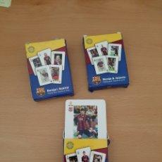 Barajas de cartas: BARAJAS DEL BARCELONA, MESSI, INIESTA, RAKITIC. Lote 204771187